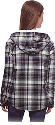 Boston Trader Ladies' Sherpa Lined Hooded Flannel