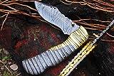 DKC-101 ORIAN 1 Pocket Folding Damascus Hunting Knife 8'' Long, 3.25'' Blade 4.5'' Folder 10oz DKC Knives Work of Art !
