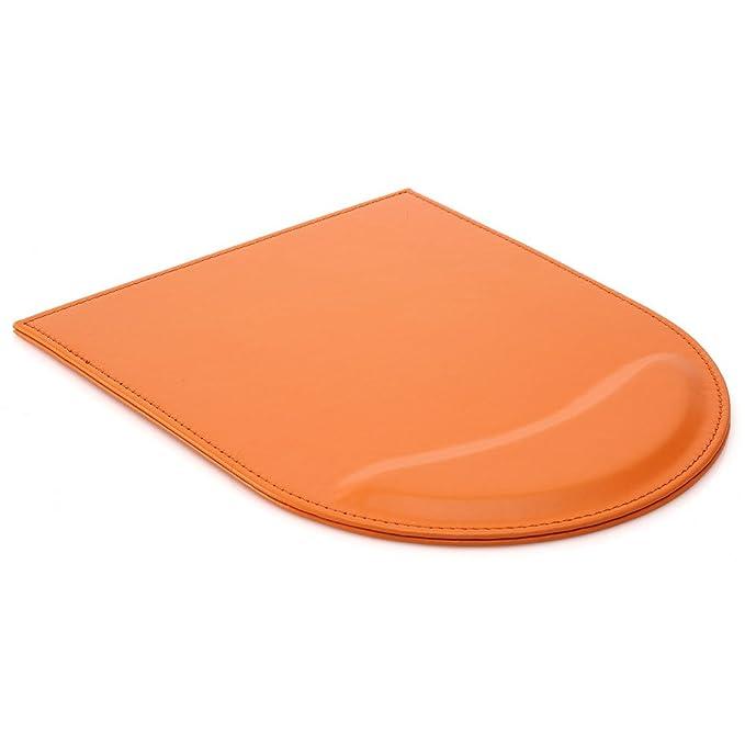 8 opinioni per KINGFOM Tappetino per Mouse con Poggiapolsi in Pelle, arancione