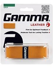 Gamma Tennis Griffbänder Leather 1er Braun Basisgriffband, S