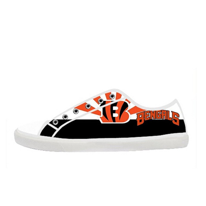 Custom Women Bengals Canvas Shoes Comfortable Sneakers