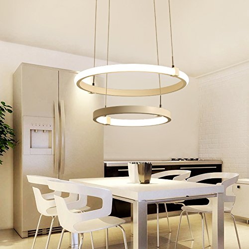 SUHANG Chandelier The Restaurant Is Light Art Living Room Study Dining Ring Led