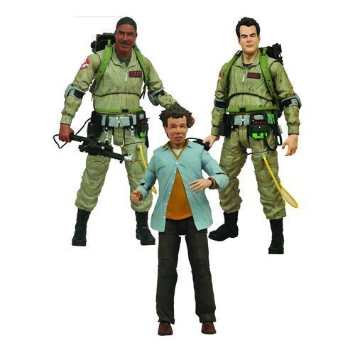 Diamond Select Ghostbusters Select Ray Stanz, Winston Zeddemore and Louis Tully Series 1 Action Figures Set of 3 by Ghostbusters