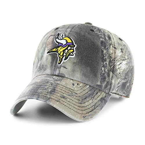 Gear Vikings Minnesota (OTS NFL Minnesota Vikings Male Mossy Oak Challenger Adjustable Hat, Mossy Oak-Break Up Country, One Size)