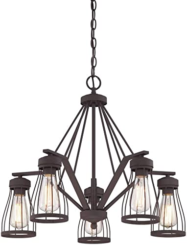 Designers Fountain 86885-BZ Brooklyn 5 Light Chandelier