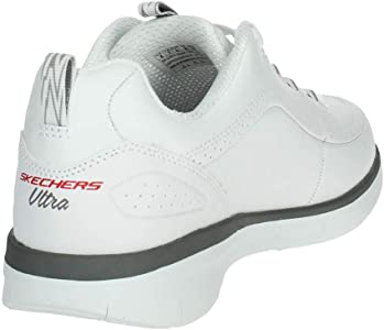 Skechers 52653WGY Niedrige Sneakers Herren Weiss 40: Amazon