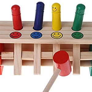 Baby Wooden Musical Toy Hammer Educational Color Identification Toy For Children by Swallyan