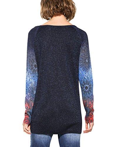 Desigual Pull Jers Carlin 5001 Femme Basic Bleu Marino r8rT6nW1x