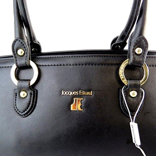 Bolsa de cuero 'Jacques Esterel'negro.