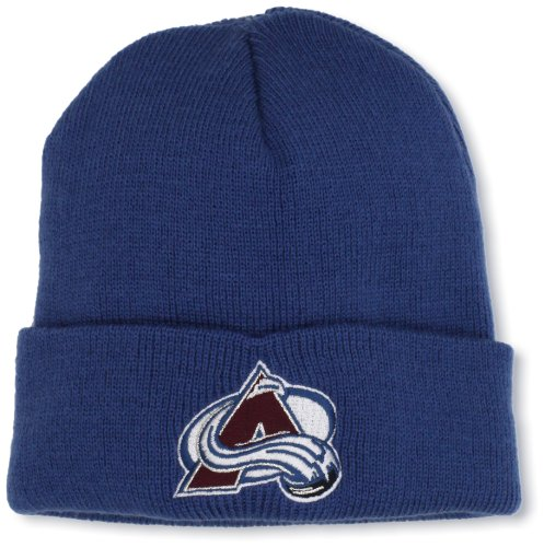 NHL Colorado Avalanche Youth Basic Logo Cuffed Knit Hat, One Size ()