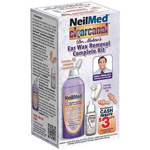 NeilMed Clearcanal Ear Wax Removal Complete Kit, 4.2 Fluid O