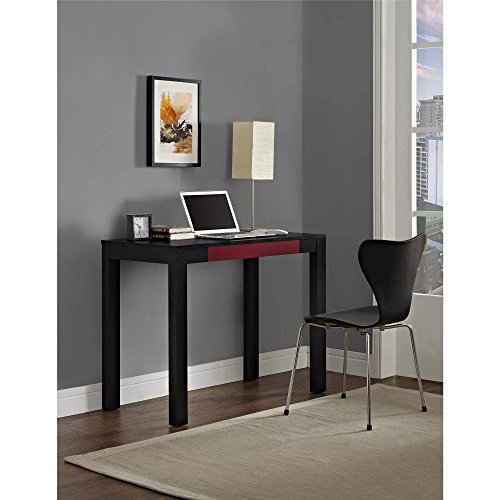 Parsons Desk With Colored Drawer, Multiple Colors Parsons styling Large work surface Storage pencil drawer holds small office supplies Convenient size desk Product Dimensions: 19.69''W x 38.98''D x 30''H by Altra