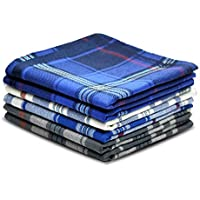 Pure Cotton Men's Soft Handkerchiefs Assorted Color Pack of 6 Gift Set by Zenssia