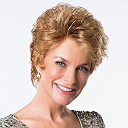 Platinum Confidence Wig Color Medium Brown - Toni Brattin Monofilament Lace Front Soft Body Curls Shag Custom Fit Average Cap