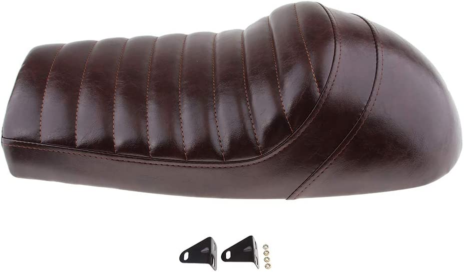 P Prettyia Motorcycle Motorbike Cushions Cafe Racer Seat Retro Humpback Style for