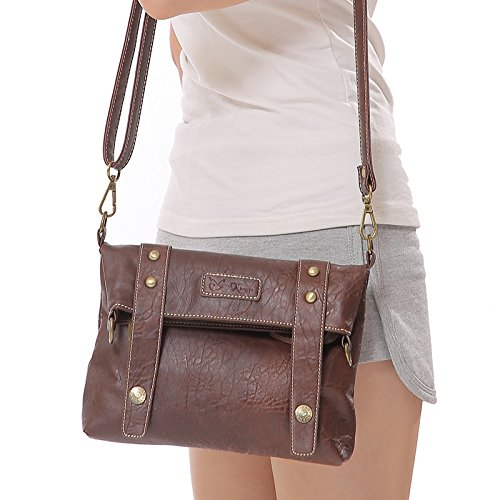Cruzados lycailcy a03 Lycailcy Inches 7 Única Light 2 Para Lyc 8 Talla White Bolso 8 7 1 Mujer Blanco Brown 5 9 wXqqx5rE