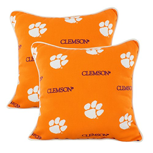 College Covers Clemson Tigers Outdoor Decorative Pillow Pair - (2) 16