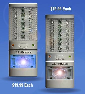 (Double Pack) Plug in Emergency Power Failure LED Light - Rechargeable Flashlight - Night  sc 1 st  Amazon.com & Double Pack) Plug in Emergency Power Failure LED Light ... azcodes.com