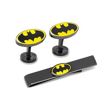 Cufflinks Inc Juego de Gemelos y Barra de Corbata de Batman, Color ...