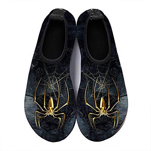 COEST Summer Outdoor Beach Swim Barefoot Shoe Spider Web Aqua Water Shoes Socks for Women Men 10.5-11 M US Women / 9-9.5 M US Men