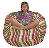 Ahh! Products Wavelength Guava Cotton Washable Large Bean Bag Chair For Sale