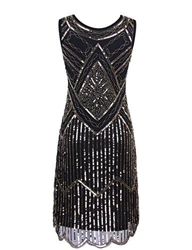 Perlé Paillette Robe Soirée Femmes De Fransen 1920s Kayamiya Flapper Or Gatsby WqATIW