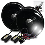 ModifyStreet 6000K Pure White H4-2 Low Beam Xenon/High Beam Halogen Slim HID/7