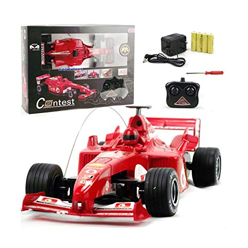 (ElevenY RC Car 1/18 F1 Formula Remote Control Car F1 Car with Remote Control Electric Car High Speed Boys Children Teenagers Gift-Rechargeable Electric Race Buggy for Kids Adults Hobby to)
