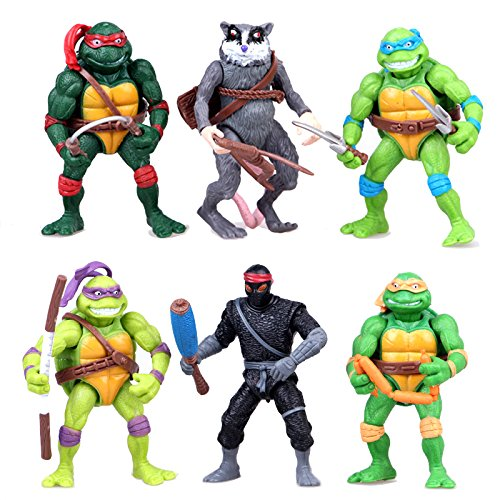 Teenage Mutant Ninja Turtles Action Figures Collectible Figurines TMNT 4.7 Inch, 12cm, Set of 6pc