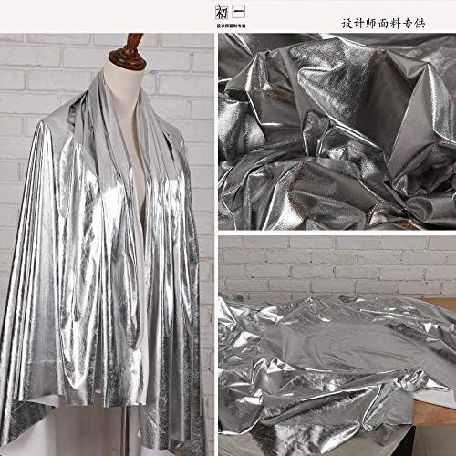 JKLAQ Telas por Metros para Vestidos- Camisa Sin Balas Plateada Brillante con Revestimiento De Espejo Tela De Ropa De Cuero Suave De PU, 150Cmx50Cm: Amazon.es: Hogar
