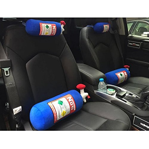 NOS Travel Pillow,Jacksuper Super Cool Memory Foam Car Decor Head Back Rest Sofa Cushion Toy Gift (Headrest(30cm)) (Bottle Nos)