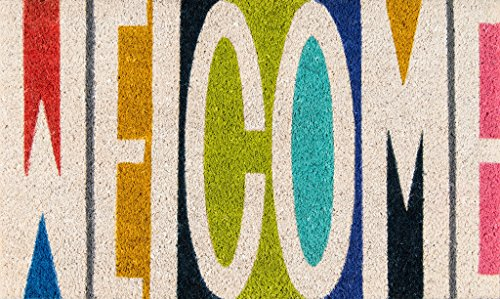 Novogratz Aloha Collection Welcome Doormat, Multi, 1'6