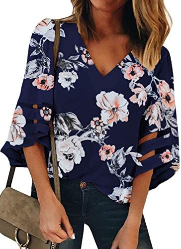 BLENCOT Womens Sleeve Patchwork Blouse product image