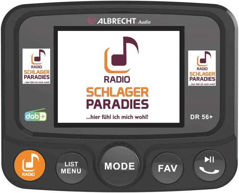 Albrecht DR56+ - Adaptador para actualizar radios de coche (tecla de selección directa del paraíso, transmisor FM para emisoras DAB+ y conexión ...