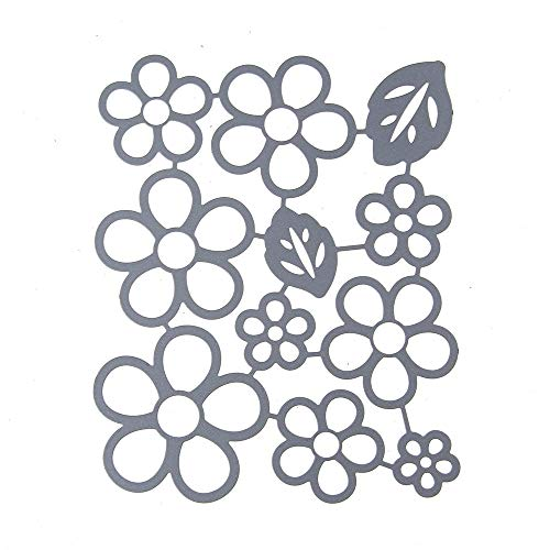 MOMKER New Flower Cutting Dies Set Mirror Design Stencil Metal Mould Template Round with Bow Embossing Stencils Metal Cutting Dies Stencils DIY Scrapbooking Album Paper Card Different Patterns (C)