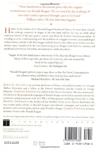 Reagan In His Own Hand The Writings of Ronald Reagan that Reveal