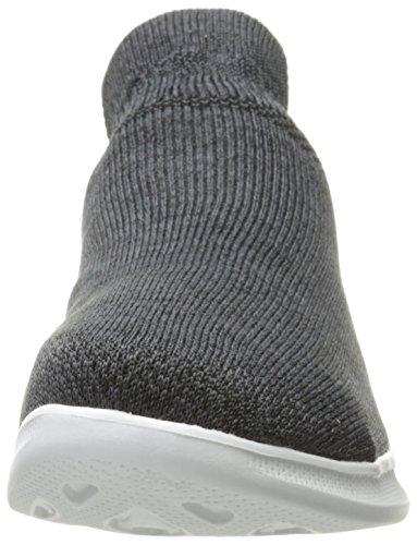 Skechers Go Step Lite-Ultrasock, Formateurs Femme Noir (Black/white)