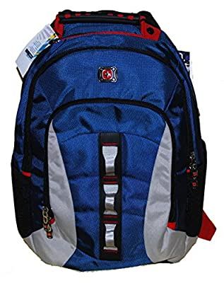 SwissGear Skyscraper 16 Inch Deluxe Laptop Backpack with Tablet/eReader Pocket - Blue/Grey by Swiss Gear