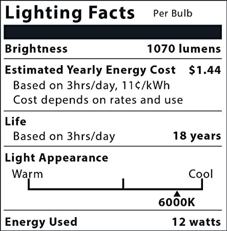 MiracleLED 605067 Almost Free Energy Natures Vibe Boost Morning Wake-Up Light 12W LED Bulb Replacing 100W Incandescent