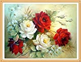 Sunshina Red Peony Flower 40x30cm Diy Pieno Diamante Flowers Pittura Punto Croce Kit Crafts Decorazione Della Casa Diamond Painting