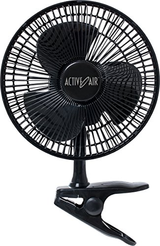 Hydrofarm HORF8 Active Air 7.5W Ultra Quiet Brushless, 8' Clip on Fan, 8 inch, 7.5 watt