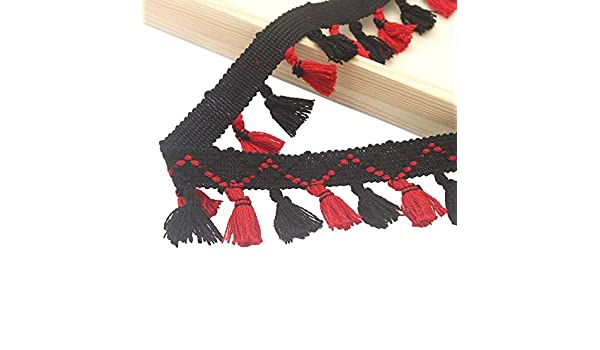 798d1d1e6709c Amazon.com: 1yard/lot Knitted Trim Lace Tassel Ethnic Style Fringed ...