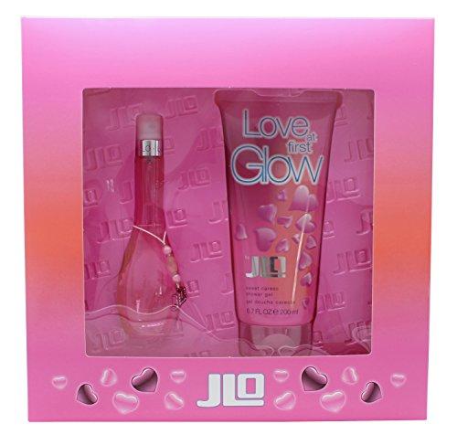 GLOW LOVE AT FIRST Women Gift Set Eau de Toilette 1oz Spray + 6.7oz S/GEL (Jennifer Lopez Glow Gift Set)