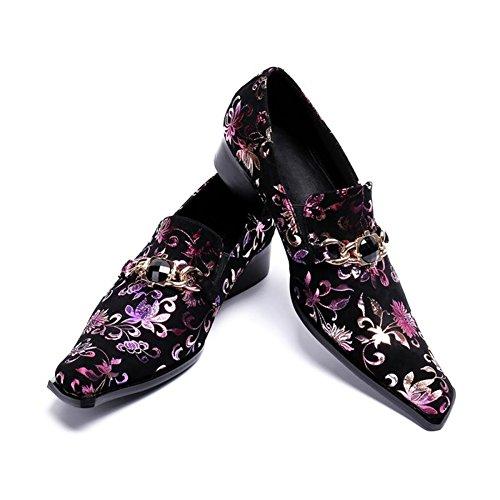 HUAN Chaussures Homme en Cuir D'Hiver Chaussures Formelles Oxford Mocassins Et Slip-Ons pour Soirée Décontractée Et Soirée A GMaUkSPHE