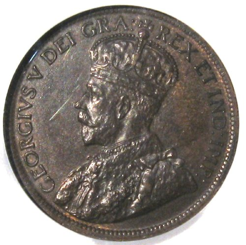 Ngc Slabbed - 1916 Canadian Penny King Goerge Large Copper Cent Old coin Certified UNC MS 64 by NGC