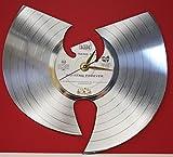 #1: Wu-Tang Clan Laser Cut Platinum Plated LP Record Wall Clock