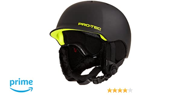 Amazon.com: Pro-tec Riot Snow Helmet, Matte Black Citrus, Small: Sports & Outdoors