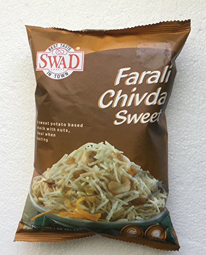 Swad Farali Chivda Sweet (A Sweet Potato Based Snack with Nuts) - 10oz., 283g. (Pack of 2) (Best Iodized Salt In India)