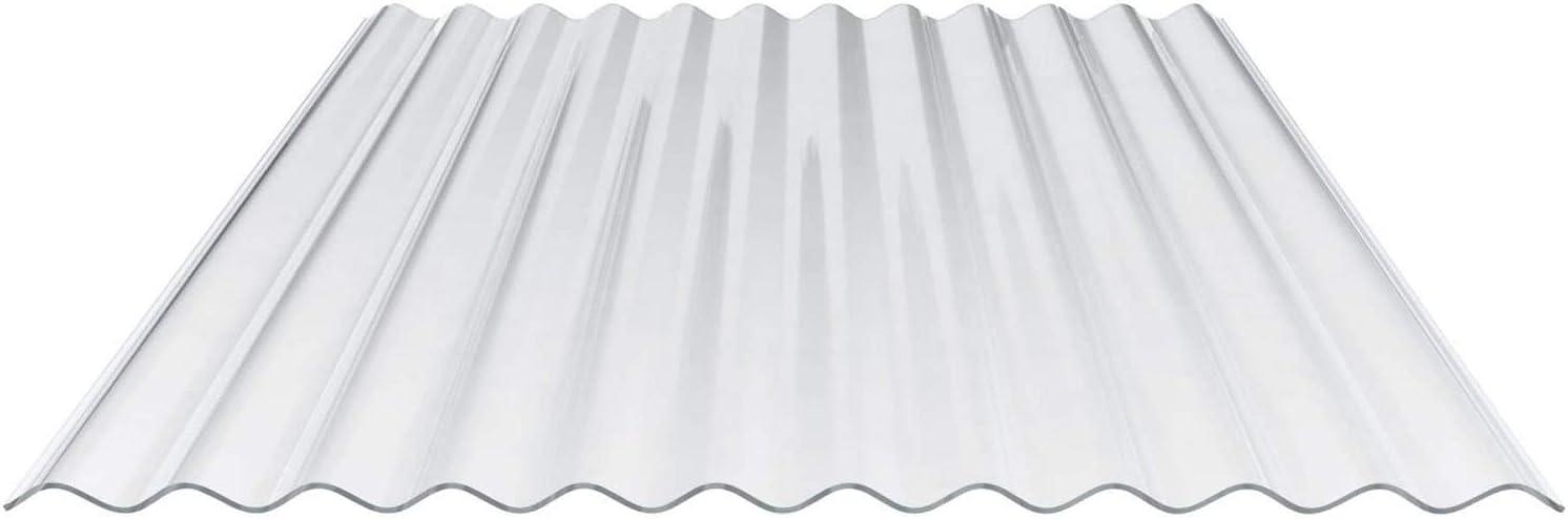 Breite 900 mm Lichtwellplatte Profil 76//18 Lichtplatte Material Polycarbonat Wellplatte St/ärke 0,65 mm Farbe Glasklar
