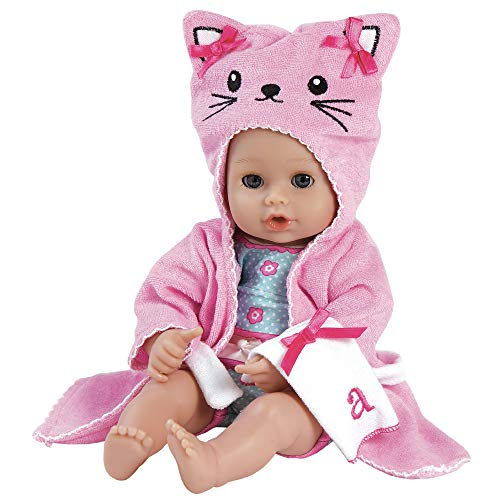 "Adora BathTime Baby ""Kitty"" - 13 Inch Baby Doll For Water Play. Quick Dry & Machine Washable. Perfect Bath Toys for 1 Year Old and Over"